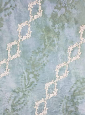 Upada Embroidery Fabric with Translucent Sequins
