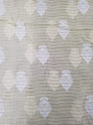 Fancy Majestic Embroidery Fabric with Lurex and Gold Sequins