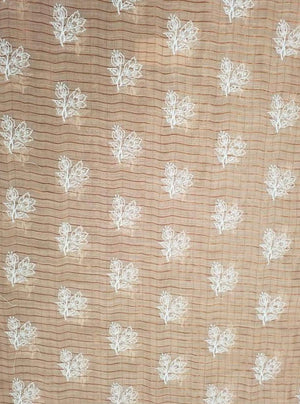 Fancy Majestic Floral Embroidery Fabric with Lurex and Gold Sequins - Zooomberg