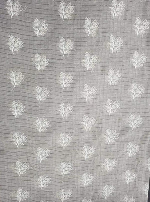 Fancy Majestic Floral Embroidery Fabric with Lurex and Gold Sequins