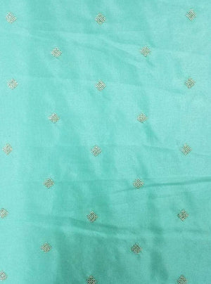 Fancy Modal Silk Embroidery Fabric witrh Gold Sequins