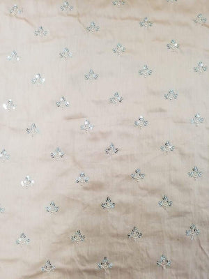 Fancy Embroidery Fabric with Gold Sequins