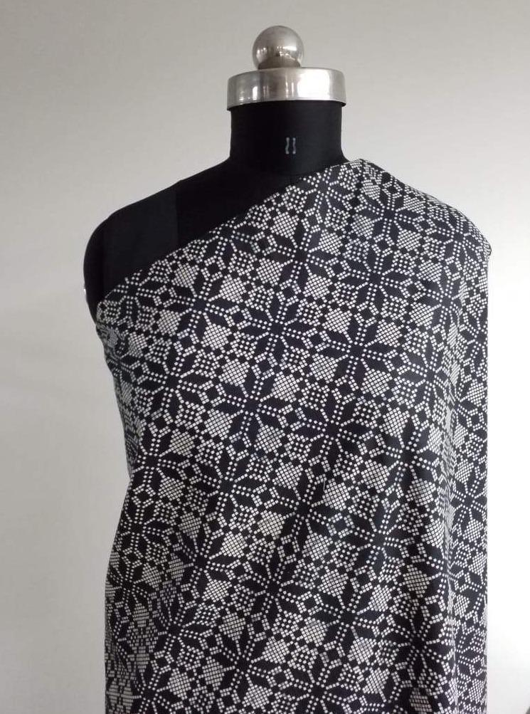 Cotton Cambric Geometrical Printed Fabric - Zooomberg