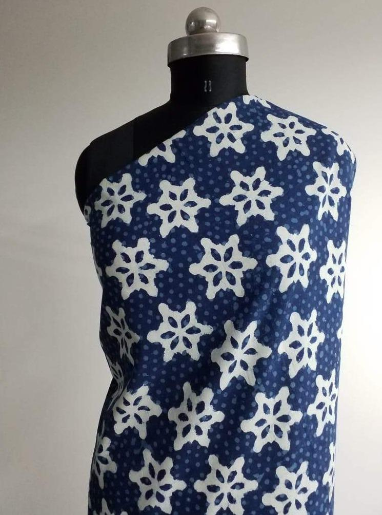Cotton Daboo Snow Flake Printed Fabric - Zooomberg