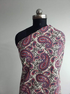 Future Cotton Cambric Paisley Printed Fabric - Zooomberg