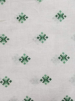 Cotton Kota Checks Embroidery Fabric