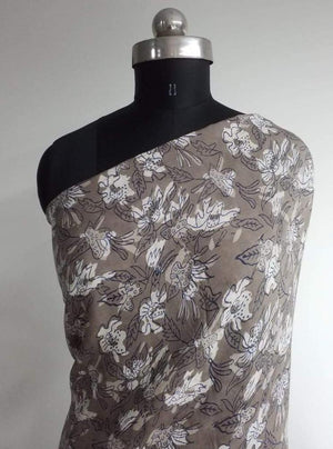 Pure Viscose Daboo Floral Printed Fabric
