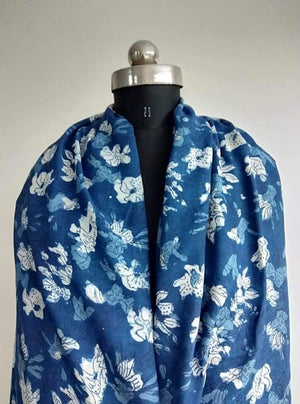 Pure Viscose Daboo Floral Printed Fabric - Zooomberg