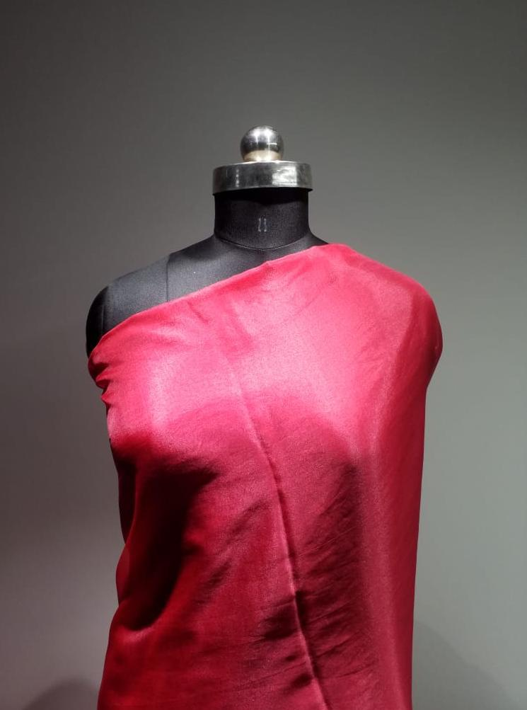 Wine Red Plain Dyed Organza Fabric