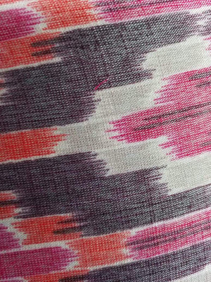 Rayon Multi Color Ikat Pattern Printed Fabric - Zooomberg