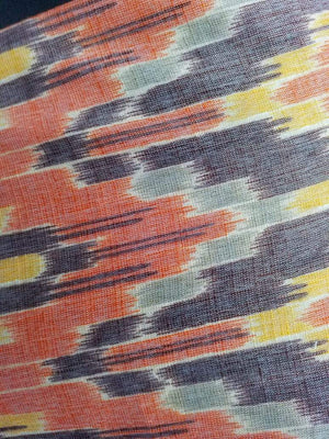 Rayon Multi Color Ikat Pattern Printed Fabric