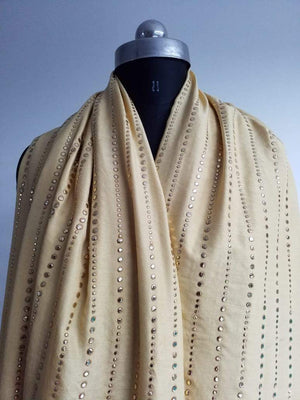 Stardots Artificial Dolla Silk Fabric with Mukaish Work