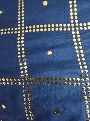 Stardots Geometric Artificial Dolla Silk Fabric with Mukaish Work