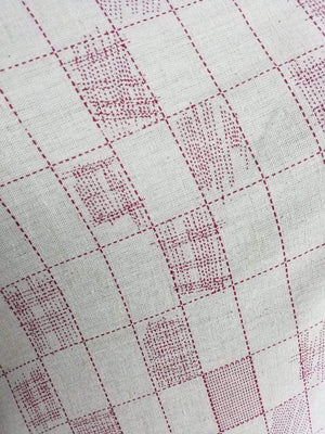 Checkered Cotton Flex Screen Printed Fabric