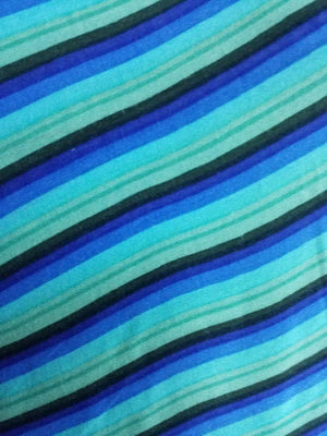 Rayon Stripe Pattern Printed Fabric - Zooomberg