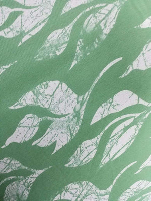 Leaf Printed Georgette Fabric - Zooomberg