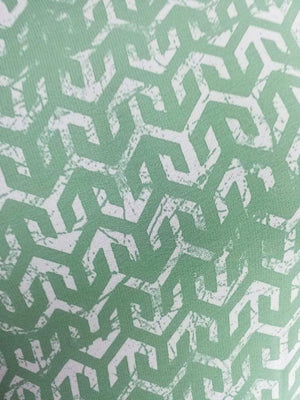 Geometric Trellis Printed Georgette Fabric