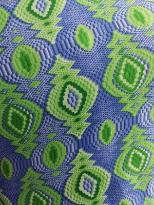 Ikat Printed Satin Georgette Fabric - Zooomberg