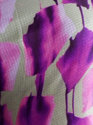 Floral Pattern Screen Printed Kota Doria Fabric