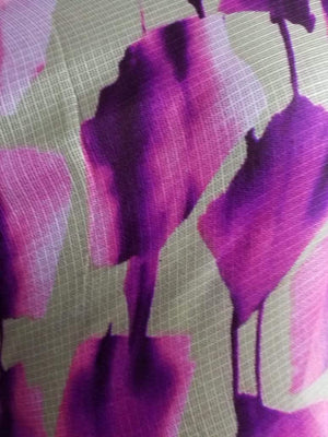 Floral Pattern Screen Printed Kota Doria Fabric - Zooomberg