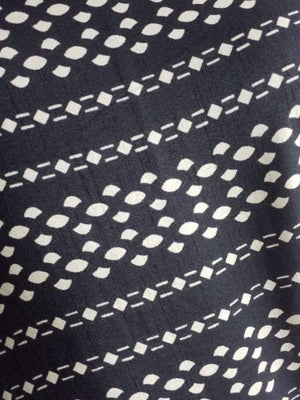 Geometric Printed Art Silk Fabric - Zooomberg