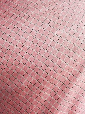 Checkered Printed Art Silk Fabric