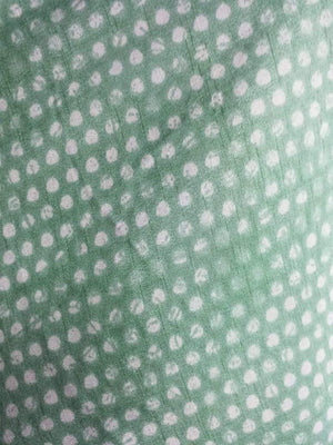 Dots Printed Art Silk Fabric
