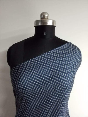 Checkered Printed Art Silk Fabric - Zooomberg