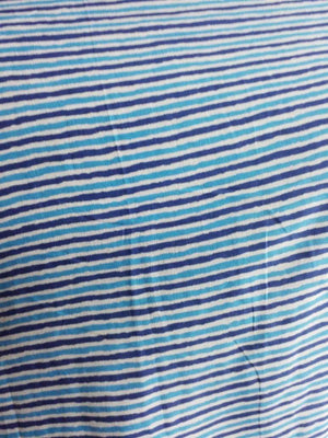 Cotton Cambric Stripe Printed Fabric