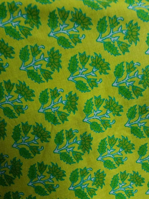 Cotton Cambric Lotus Floral Printed Fabric