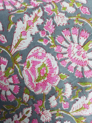 Cotton Cambric Floral Printed Fabric - Zooomberg