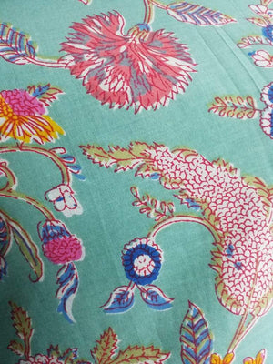 Cotton Cambric Floral Spread Printed Fabric