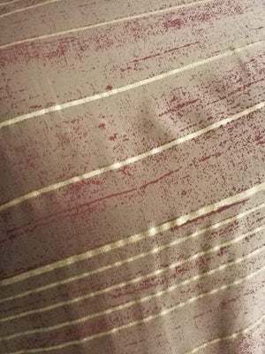 Stripe Pattern Discharge Foil Printed Cotton Satin Fabric - Zooomberg