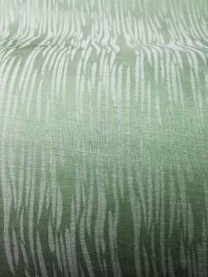 Parrot Green Tiger Pattern Jacquard Linen Satin Fabric - Zooomberg