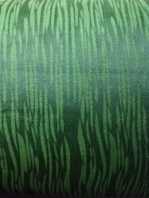 Green Tiger Pattern Jacquard Linen Satin Fabric - Zooomberg