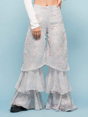 Get Vintage Layered Flare Pants with RS. 1990.00