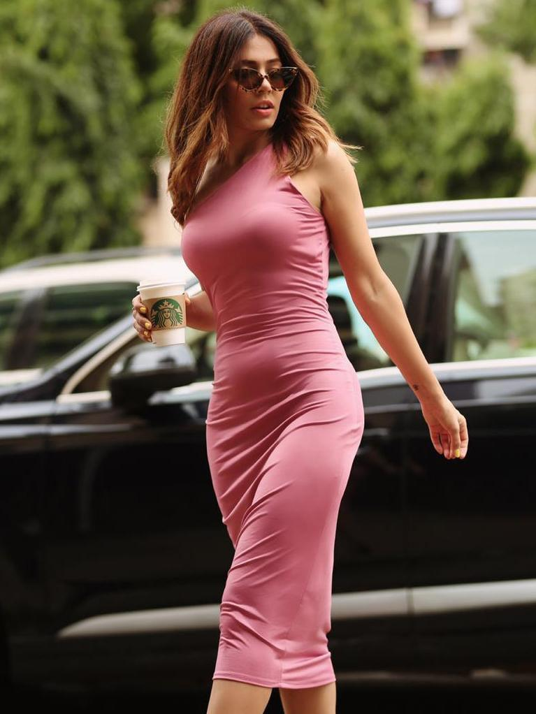 Pink One Shoulder Bodycon Dress - zooomberg