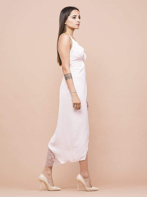 Pale Pink Wrap Tulip Dress - Dresses - Zooomberg - Zoomberg