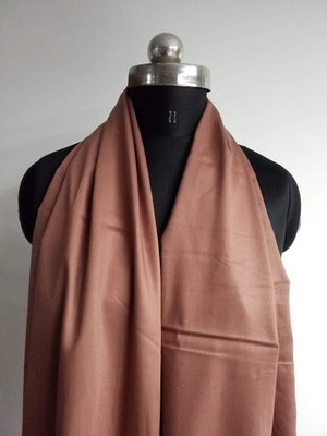 Brown Plain Dyed Cotton Satin Fabric
