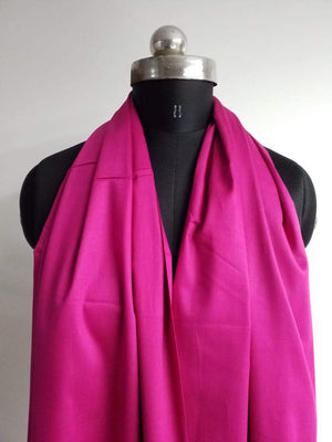 (Pre-Cut)Magenta Pink Plain Dyed Cotton Satin Fabric - Zooomberg