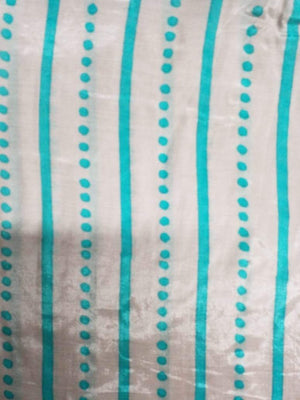 Stripe and Dot Printed Viscose Muslin Fabric - Zooomberg