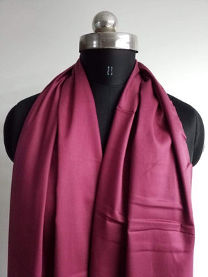Rani Pink Plain Dyed Cotton Satin Fabric - Zooomberg