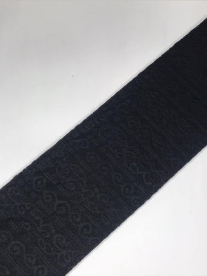 Imported Black Floral Lace Fabric (Width - 58 Inches)