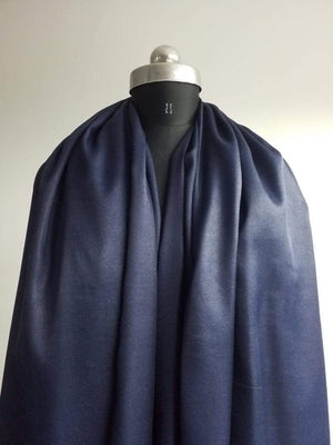 Dark Blue Plain Dyed Linen Satin Fabric - Zooomberg