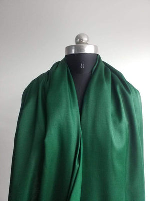 Dark Green Plain Dyed Linen Satin Fabric - Zooomberg