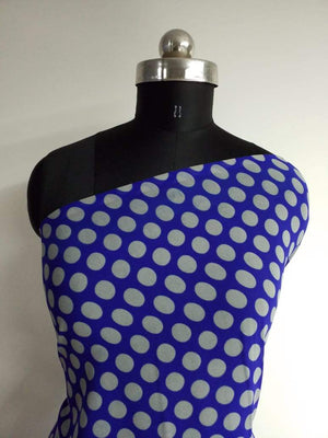 Polka Dots Printed Georgette Fabric