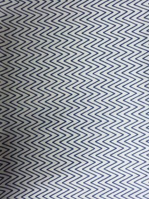 Zigzag Pattern Printed Cotton Mulmul Fabric