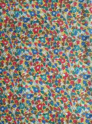 Floral Pattern Digital Printed Linen Textured Fabric