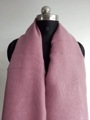 Onion Pink Plain Dyed Linen Textured Fabric - Zooomberg