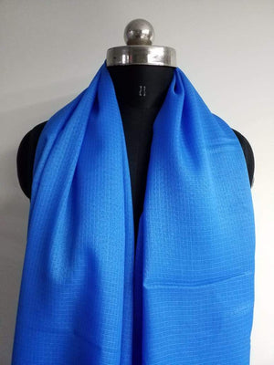 Blue Plain Dyed Kota Doria Fabric